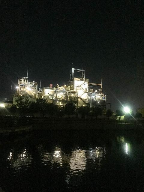兵庫県 尼崎市 工業地帯の夜景