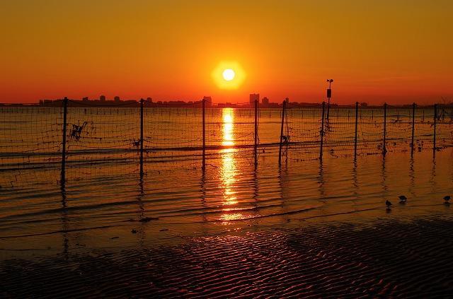船橋市三番瀬の夕日